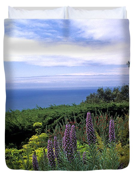 View From Ventana Big Sur Duvet Cover by Kathy Yates