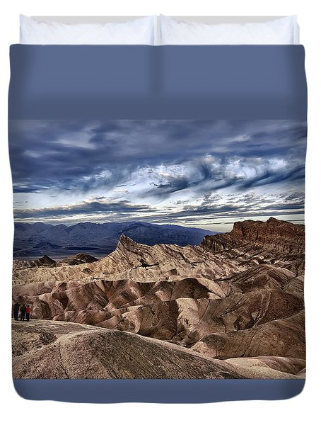View From Zabriskie Point  Duvet Cover