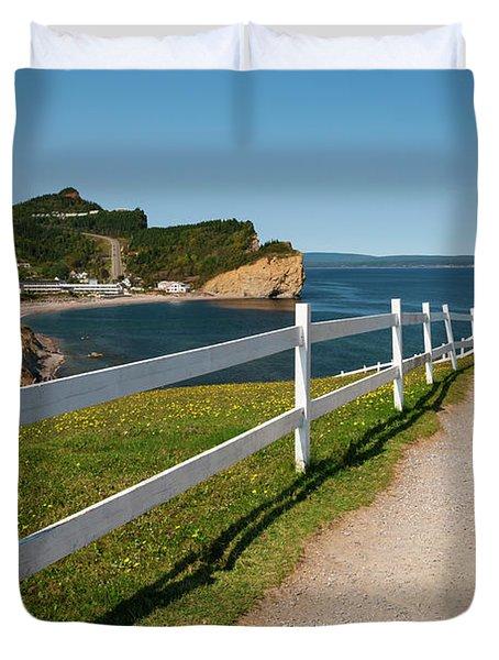 View In Perce Quebec Duvet Cover