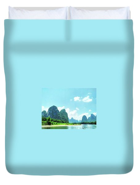 A Moment On Li River Duvet Cover