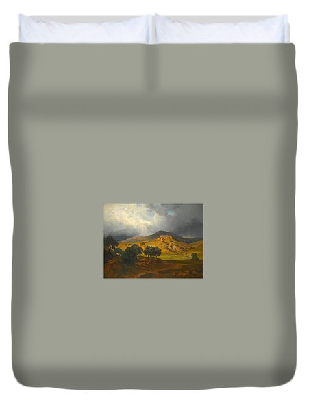 View Of Agrigento In Sicily Duvet Cover