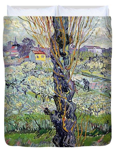 View Of Arles Duvet Cover by Vincent Van Gogh