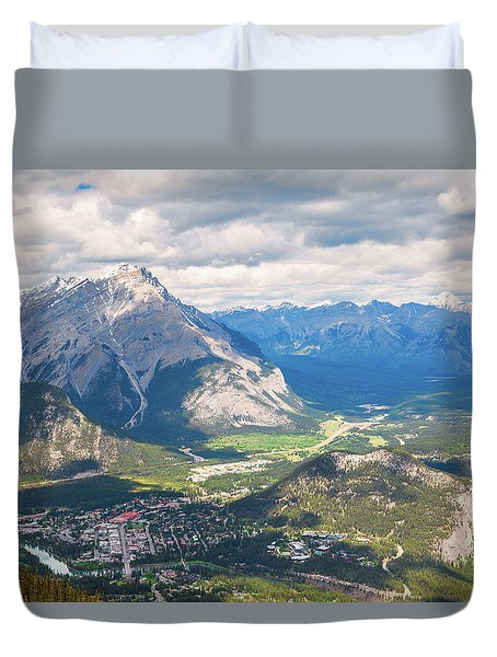 View Of Banff Duvet Cover