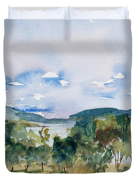 View Of D'entrecasteaux Channel From Birchs Bay, Tasmania Duvet Cover