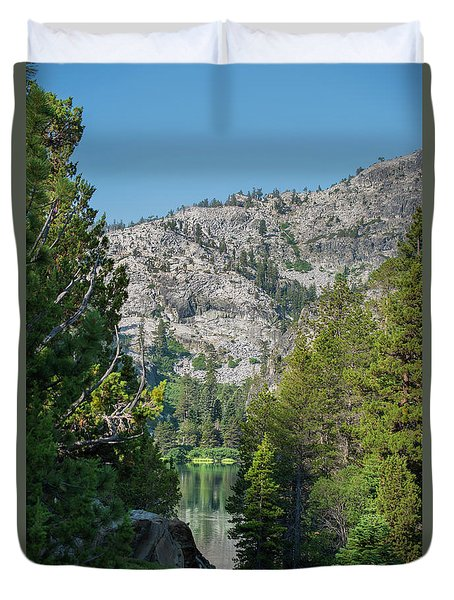 View Of Eagle Lake Duvet Cover