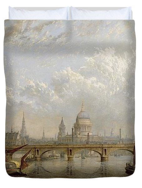 View Of London  Duvet Cover by John MacVicar Anderson