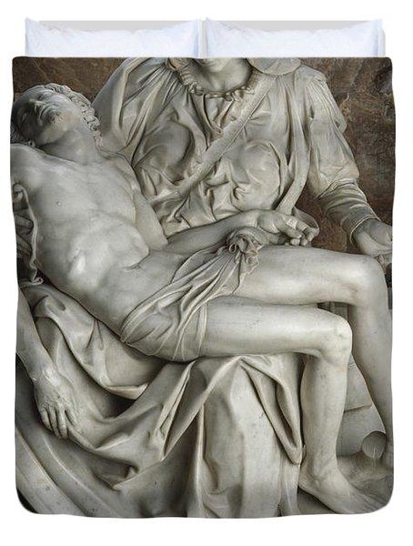 View Of Michelangelos Famous Sculpture Duvet Cover by James L. Stanfield