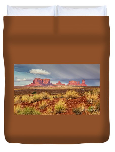 View Of Monument Valley Duvet Cover