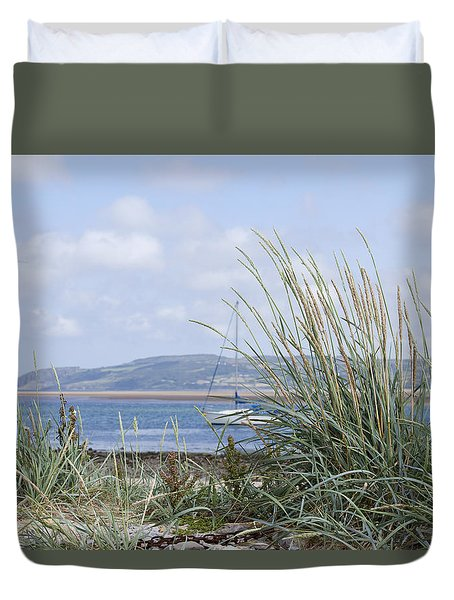 View Of North Wales Duvet Cover by Gillian Dernie