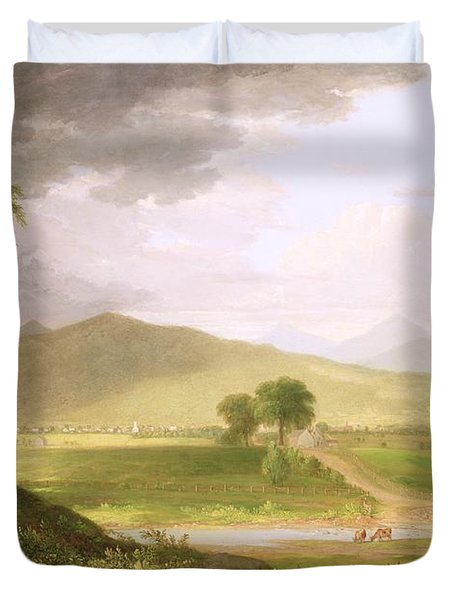 View Of Rutland - Vermont Duvet Cover by Asher Brown Durand