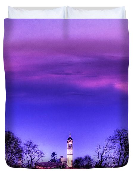 View Of San Giorgio Lomellina Duvet Cover