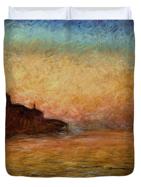 View Of San Giorgio Maggiore Venice By Twilight Duvet Cover by Claude Monet