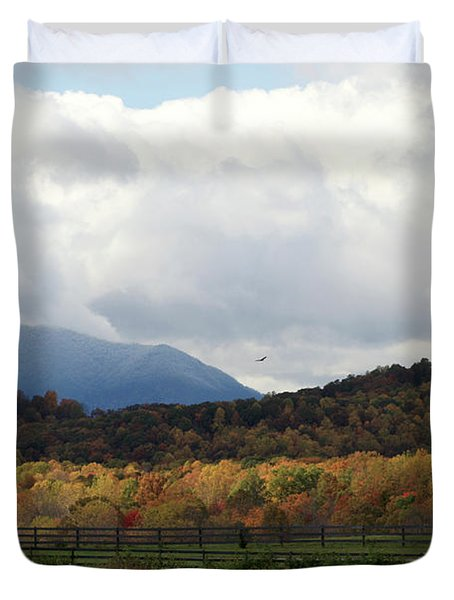 View Of Sharp Top In Blue Ridge Mountains Duvet Cover