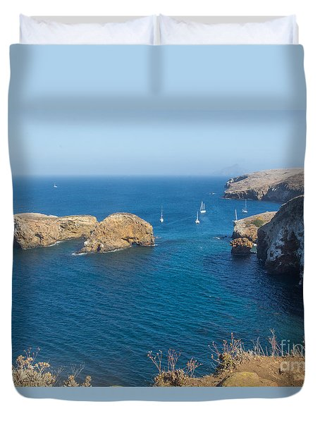 View Of Smuggler's Cove Duvet Cover