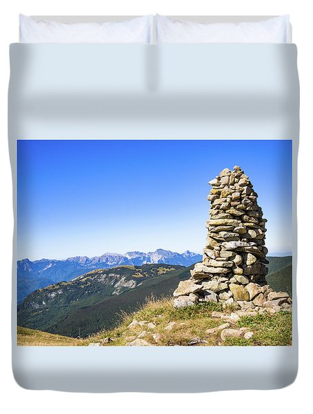 View Of The Apuan Alps Duvet Cover