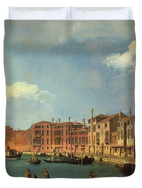 View Of The Canal Of Santa Chiara Duvet Cover by Canaletto