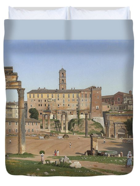 View Of The Forum In Rome Duvet Cover