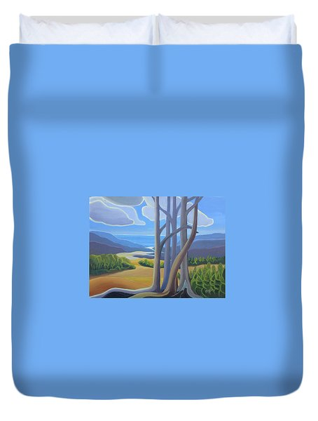 View Of The Lake Duvet Cover