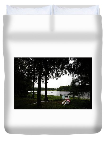 Duvet Cover featuring the photograph View Of The Pond by David Patterson