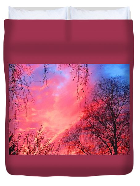 View Of The Sunset Duvet Cover