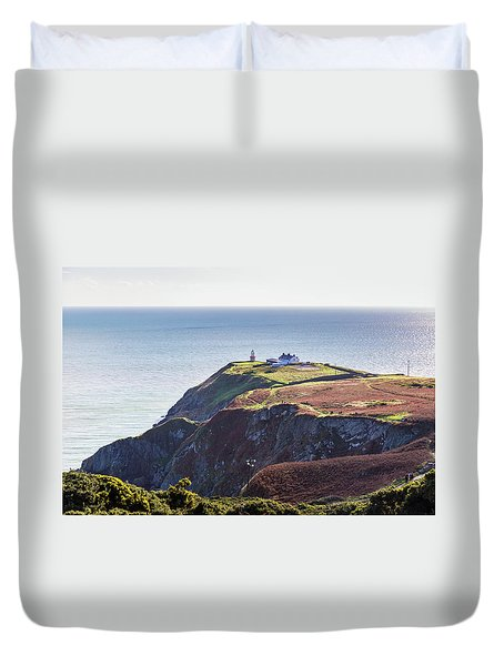 Duvet Cover featuring the photograph View Of The Trails On Howth Cliffs And Howth Head In Ireland by Semmick Photo