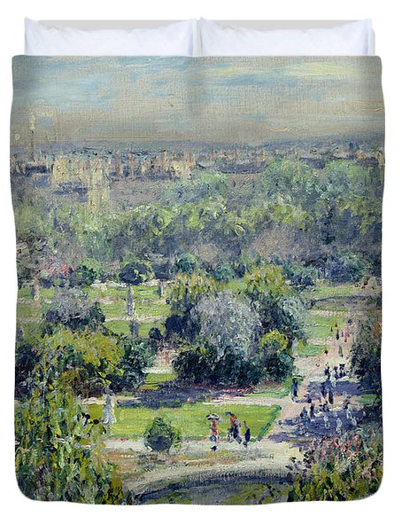 View Of The Tuileries Gardens Duvet Cover