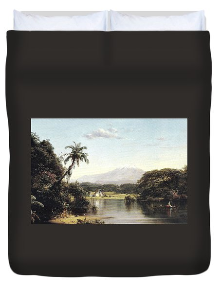 View On The Magdalena River Duvet Cover