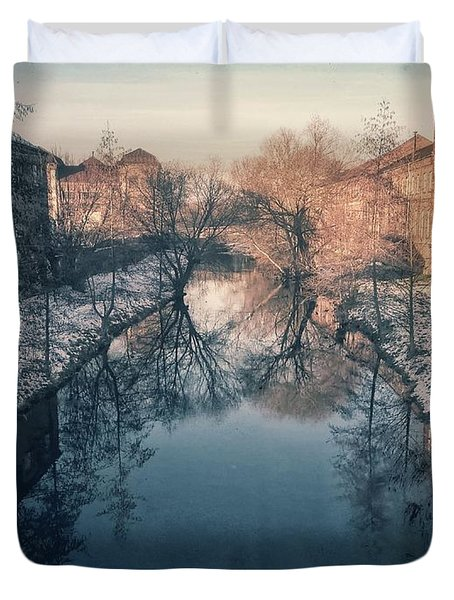 View Onto The River  Duvet Cover