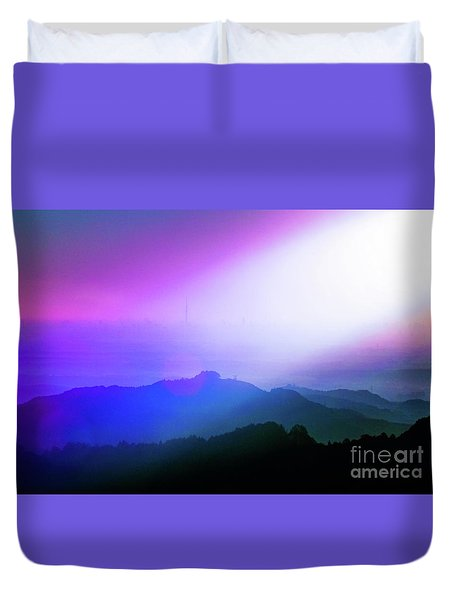 Duvet Cover featuring the photograph View Point by Tatsuya Atarashi