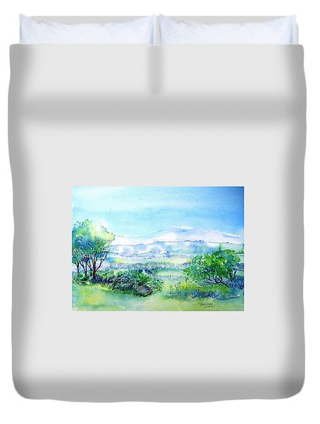 View Through The Gap,wicklow  Duvet Cover