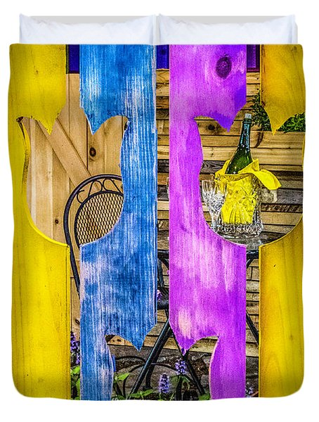 Duvet Cover featuring the photograph View Thru The Fence by Nick Zelinsky