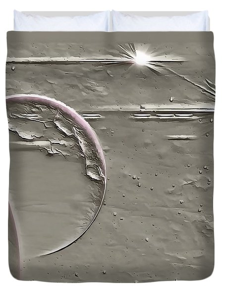 View To A Gray Universe Duvet Cover