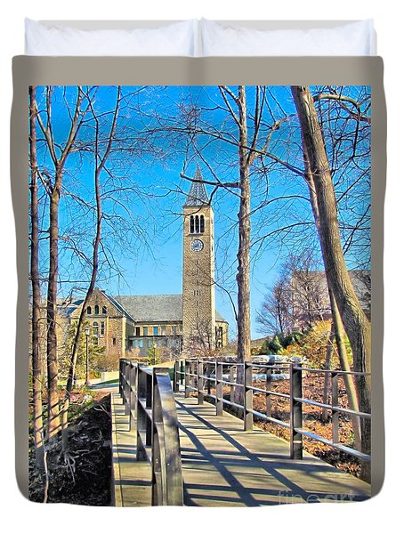 View To Mcgraw Tower Duvet Cover