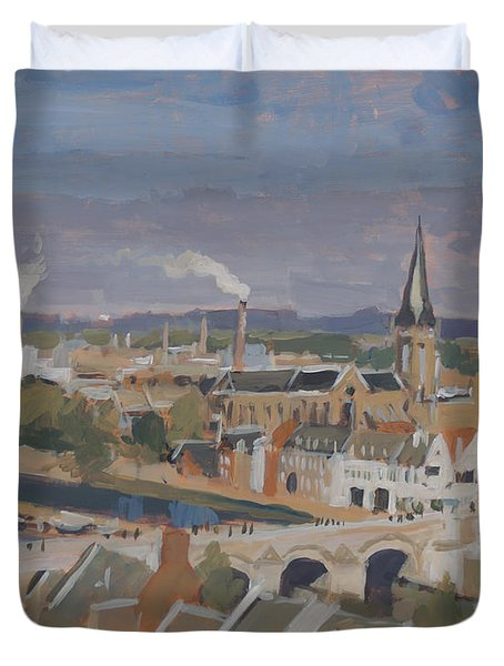 View To The East Bank Of Maastricht Duvet Cover