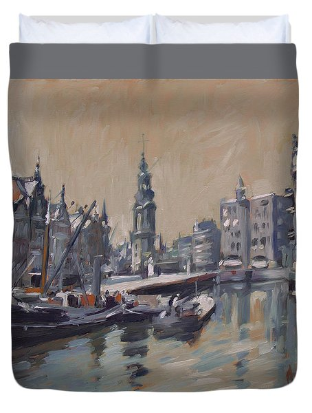 View To The Mint Tower Amsterdam Duvet Cover