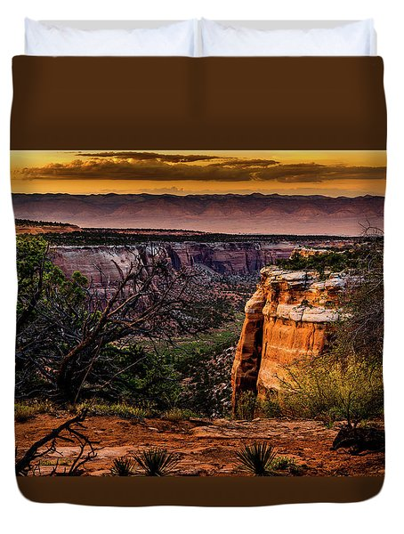 Duvet Cover featuring the photograph View To The Past by TL Mair