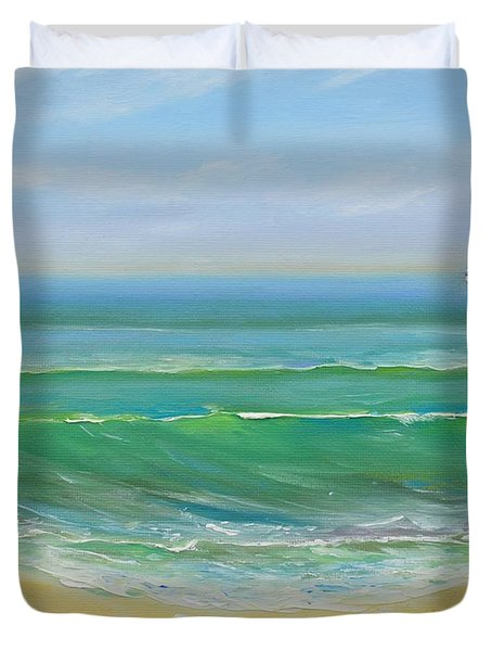 View To The Pier Duvet Cover