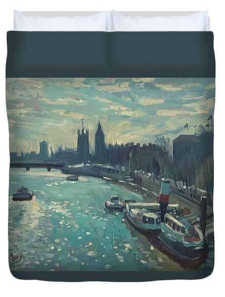 View To Westminster London Duvet Cover