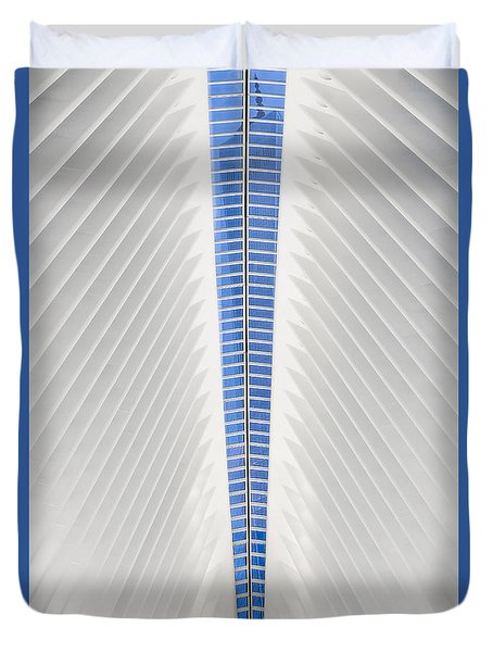 View To World Trade Center Wtc  Duvet Cover by Susan Candelario