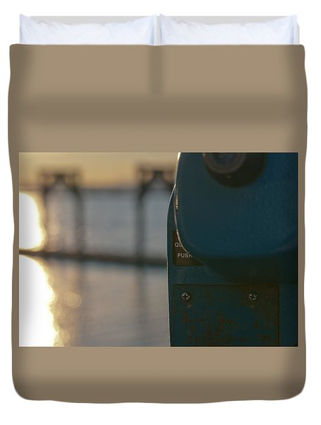 Duvet Cover featuring the photograph Viewfinder by Erin Kohlenberg