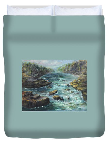 Viewing The Rapids Duvet Cover