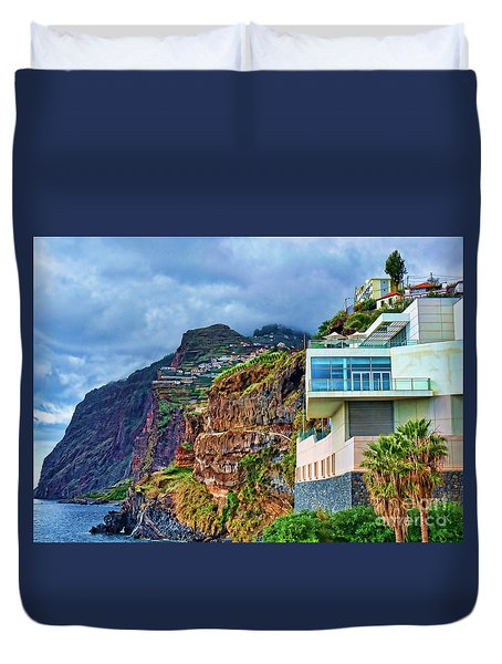 Viewpoint Over Camara De Lobos Madeira Portugal Duvet Cover