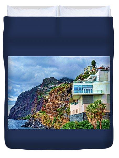 Viewpoint Over Camara De Lobos Madeira Portugal Duvet Cover