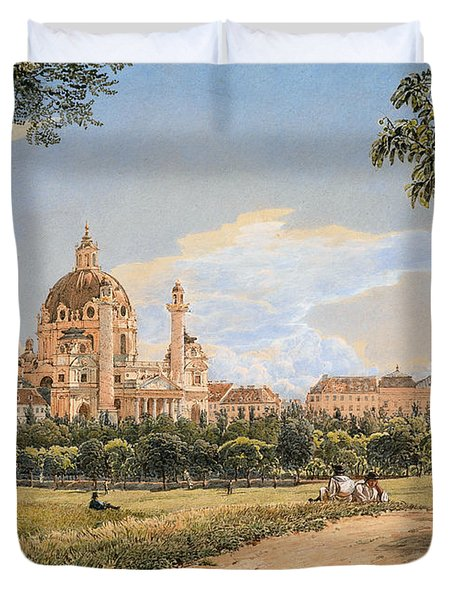 Views Of The Karlskirche And The Polytechnic Institute Duvet Cover