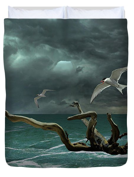 Vigil At Sea Duvet Cover