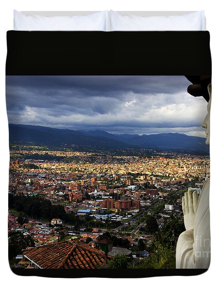 Vigil Over Cuenca From Turi Ecuador Duvet Cover by Al Bourassa