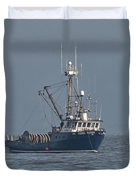 Viking Fisher 1 Duvet Cover by Randy Hall