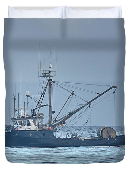 Duvet Cover featuring the photograph Viking Fisher 3 by Randy Hall