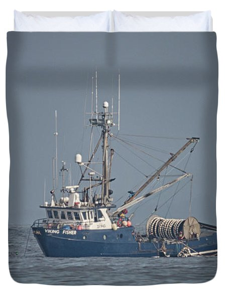 Duvet Cover featuring the photograph Viking Fisher 4 by Randy Hall