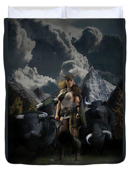 Viking Gefjon Duvet Cover by Andy Renard
